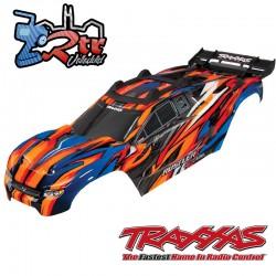 Carrocería Traxxas Rustler 4x4 Pintada  con soportes TRA6717T