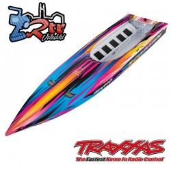Casco Spartan Traxxas Rosa completamente ensamblado TRA5735P