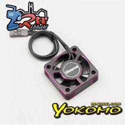 Ventilador de enfriamiento de 30 mm con marco de aluminio Yokomo (púrpura) D-CFP