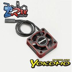 Ventilador de enfriamiento de 30 mm con marco de aluminio Yokomo (Rojo) D-CFR