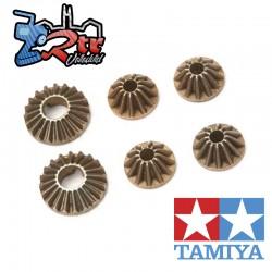 Engranajes cónicos de acero Tamiya para unidad diferencial de engranajes TA06 54428