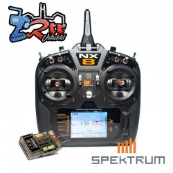 Emisora Spektrum NX8 8 Canales DSMX 2.4 GHz + Receptor Telemetría AR8020T