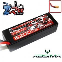 Lipo Absima Power Tank 3s 11.1 Volts 6200 Mha 60C Caja dura Conector XT90
