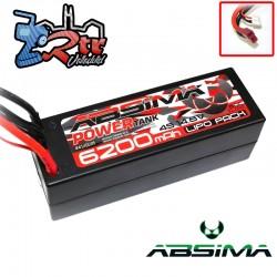 Lipo Absima Power Tank 4s 14.8 Volts 6200 Mha 60C Caja dura Conector TDeam