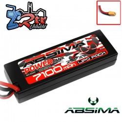 Lipo Absima Power Tank 2s 7.4 Volts 7100 Mha 60C Caja dura Conector XT90