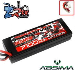 Lipo Absima Power Tank 2s 7.4 Volts 7100 Mha 60C Caja...