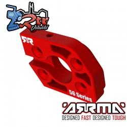Placa de Motor de Aluminio Serie 56 Roja Arrma ARA320591
