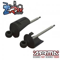 Eje de amortiguador trasero, ojal y percha de resorte Arrma AR330527