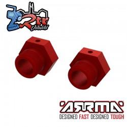 Hexágonos 24mm Aluminio Rojo Arrma ARA310912