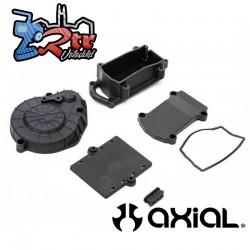 Cubierta de engranajes y caja del receptor Negro RBX10 Axial AXI231036
