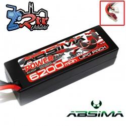 Lipo Absima Power Tank 3s 11.1 Volts 6200 Mha 60C Caja dura Conector Tdeam