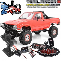 RC4WD Trail Finder Marlin RTR 4WD 1/10 Cuerpo Mojave II Rojo