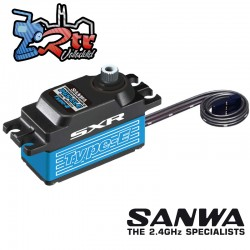 Sanwa PGS-CLE Low Profile Waterproof SXR Response (0.09s/12.8kg/7.4V) Coreless Servo