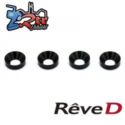 Arandela de avellanado de aluminio de 3 mm (4 piezas) Reve D RC-002