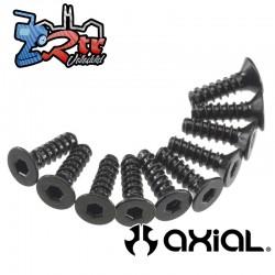 Tornillo hexagonal de cabeza plana M3x10mm Negro (10) Axial AXIC0128