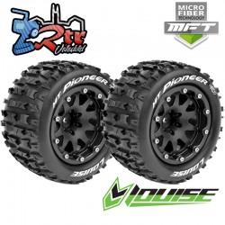 Ruedas Louise 12mm Monster 1/10 MFT-MT-PIONEER 2.8 1/2 Outset Pegadas Rellenas LR-T3274SB