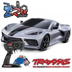 Traxxas 4-Tec 3.0 Corvette Chevrolet Stingray Gris Escala 1/10 4Wd Escobillas