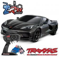Traxxas 4-Tec 3.0 Corvette Chevrolet Stingray Negro Escala 1/10 4Wd Escobillas