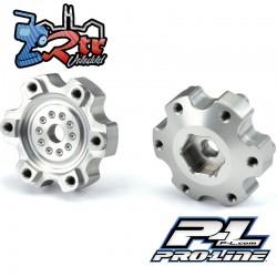 """Adaptadores hexagonales de aluminio de 6x30 a 12 mm (estrechos) para ruedas ProLine 6x30 2.8"""" PR6337-00"""