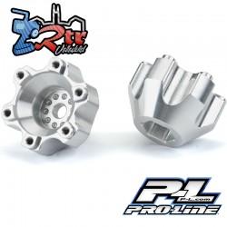 "Adaptadores hexagonales de aluminio de 6x30 a 12 mm (ancho) 2.8"" para ruedas ProLine 6x30 2.8"" PR6337-01"