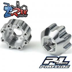 """Adaptadores hexagonales de aluminio de 8x32 a 17mm 1/2"""" Offset 3.8"""" para ruedas ProLine PR6353-00"""