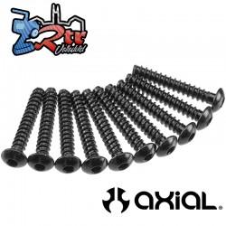 Tornillo hexagonal de Cabezal de botón M3x18mm Negro (10) Axial AXA438