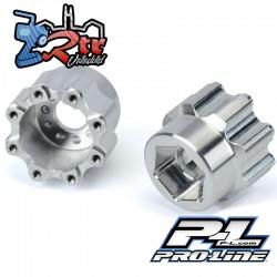 """Adaptadores hexagonales de aluminio de 8x32 a 20mm 1/2"""" Offset 3.8"""" para ruedas ProLine PR6357-00"""