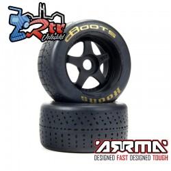 Ruedas Arrma 17mm dBoots Hoons 53/107 Oro 2.9 5 Spokes Pegadas ARA550085