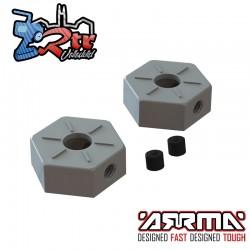 Hexágonos de aluminio opcionales 14mm 2 Unidades Arrma AR310871