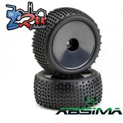 Ruedas Absima 12mm Disco Offroad Traseras negro 1/10 2500012