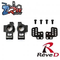 Juego de soporte de buje trasero de aluminio Reve D para RWD Drift