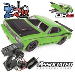 Drag Race Car DR10 Team Asociated 2WD 1/10 RTR Verde