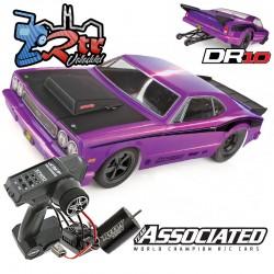 Drag Race Car DR10 Team Asociated 2WD 1/10 RTR Purpura