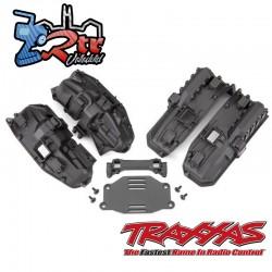 Guardabarros interior estrecho delantero y trasero para montaje de carrocería sin clip Traxxas TRA8080X