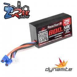 Lipo Dynamite Reaction 800mAh 7.4V 2S 50C Caja Dura Shorty EC3