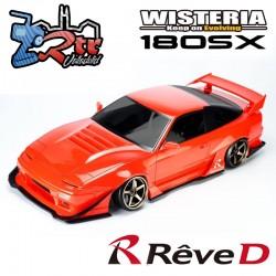Carrocería ReveD NISSAN 180SX WISTERIA 190mm Transparente