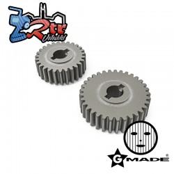 Juego de engranajes de sobremarcha de transmisión de acero endurecido (33T / 27T) GS02F Gmade GM30168