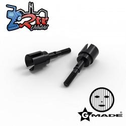 Eje de rueda 35mm 2pcs Negro Gmade GM60047