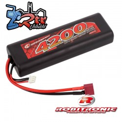 Lipo Robitronic 2s 4200 Mha 40C Caja dura HardBox...