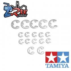 Juego de anillos en E , 17 Unidades 2 mm, 3 mm, 4 mm Tamiya