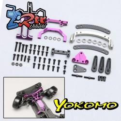 Slide Rack Bulkhead set Ver.2 Purpura para YD-2E / S Series Yokomo Y2-202SEP