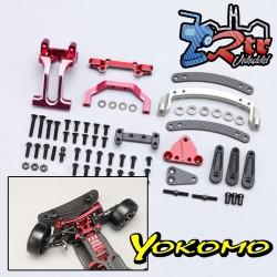 Slide Rack Bulkhead set Ver.2 Rojo para YD-2E / S Series Yokomo Y2-202SER