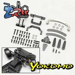 Slide Rack Bulkhead set Ver.2 Negro para YD-2E / S Series Yokomo Y2-202SES