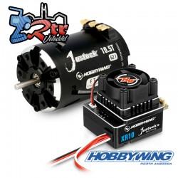 Combo Hobbywing Xerun Justock Combo G3, 10.5 Turn 4000kV Sensored