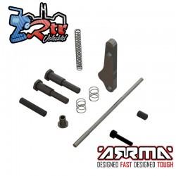 Conjunto de piezas metálicas del módulo del freno de mano Arrma ARA311022