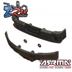 Juego de parachoques, cromo negro: BIG ROCK CREW CAB 4X4 Arrma ARA320461