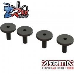 Tornillos de cabeza grande, M3x8mm 4 piezas ARA727308