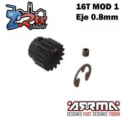 Piñón engranaje 16T Modulo 1 Eje 8mm Arrma ARA311036