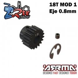 Piñón engranaje 18T Modulo 1 Eje 8mm Arrma ARA311038