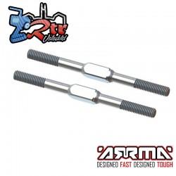 Tensor de acero, M4x60mm Plateado 2 unidades EXB Arrma ARA340177